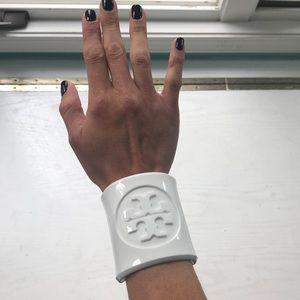 Tory Burch white plastic bracelet